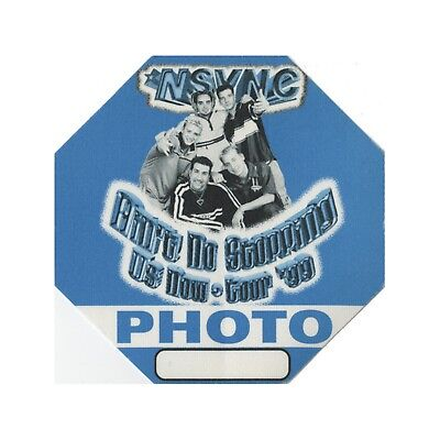 NSYNC Authentic 1999 Ain't No Stoppin Now Tour Backstage Pass Justin Timberlake