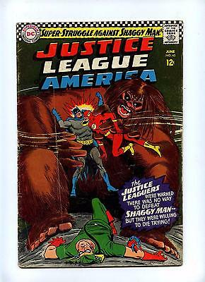 Justice League of America #45 - DC 1966 - Shaggy Man - GD
