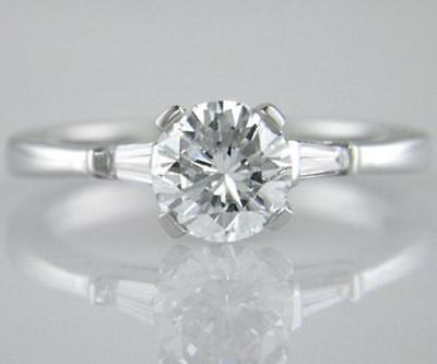 Diamond Solitaire Engagement Ring 1.26ct Certified F SI1 Brilliant Cut 18ct Gold