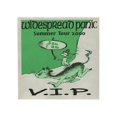 Widespread Panic authentic 2000 Summer tour satin Backstage Pass VIP green