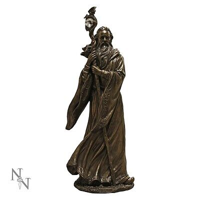 MERLIN.Superb Bronze Wizard Figurine. Nemesis Now. (LARGER VERSION) 47cm Height.