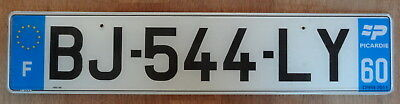 Genuine PICARDY FRANCE French Eurostars license plate BEAUVAIS OISE BJ 544 LY