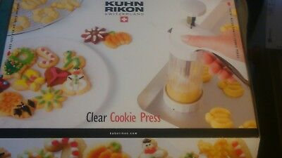 Kuhn Rikon Clear Cookie Press Cookie  - New in box