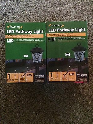 2 Malibu LED Pathway Light Low Voltage Landscape Lighting #1402-4120-80-0913