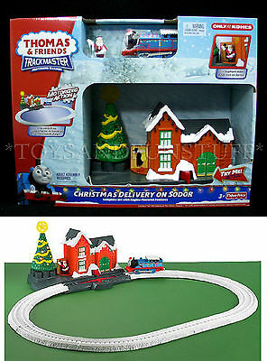 NEW Thomas Friends CHRISTMAS DELIVERY On SODOR Trackmaster MOTORIZED Train Set