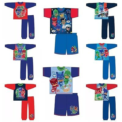 Boys Official PJ Masks Pyjamas Catboy Gekko Owlette Action Pyjamas Free P&P