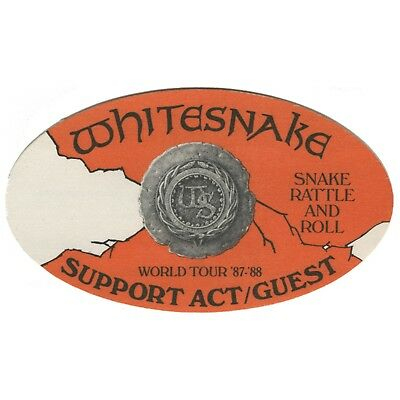 Whitesnake authentic 1987 Snake Rattle & Roll Tour backstage pass support guest