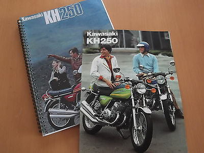 Kawasaki KH250 250 Triple B1 B2 B3 Parts Manuals + FREE B3 sales Brochure