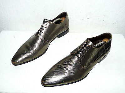 Orig. BOSS Hugo Boss Seltener Design business Schuhe, Gr. 43 / 100% LEDER