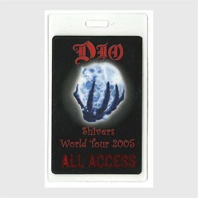 Dio authentic 2005 concert tour Laminated Backstage Pass Shivers Tour AA rare