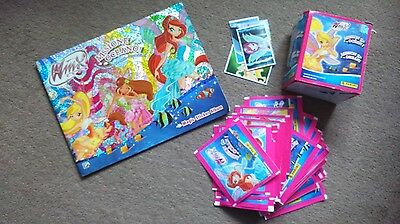 Winx club 48+ sealed sticker packets + Sticker album for Ocean Mission