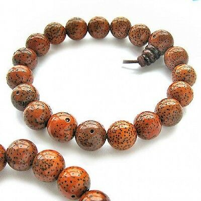 Stretchy Tibetan 16 11mm Star Moon Old Bodhi Seed Buddhist Prayer Beads Bracelet