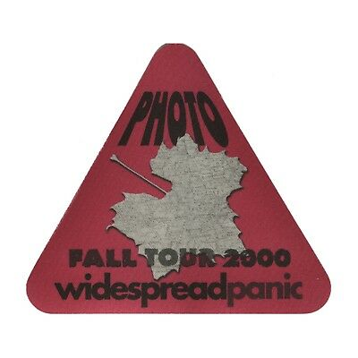 Widespread Panic authentic 2000 Fall tour satin Backstage Pass photo red