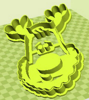 3D Printed Quality Christmas Rudolph Red Nosed Reindeer Cookie Cutter