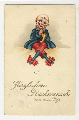 AK Neujahr, Clown, 1933