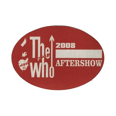 The Who authentic 2008 Greatest hits tour satin Backstage Pass band after show