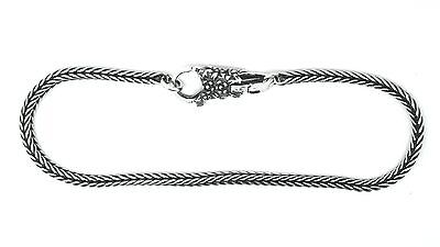 CHARM BRACELET- 3mm- Foxtail - LACE Lock/clasp option- Solid 925 Sterling silver