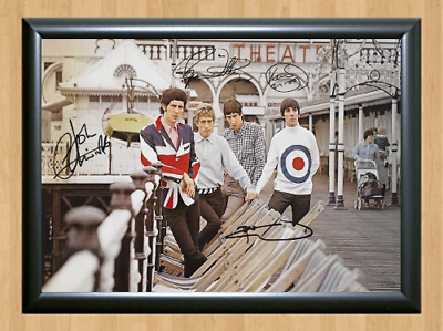 The Who Roger Daltrey Signed Autographed A4 Photo Poster Music Memorabilia cd