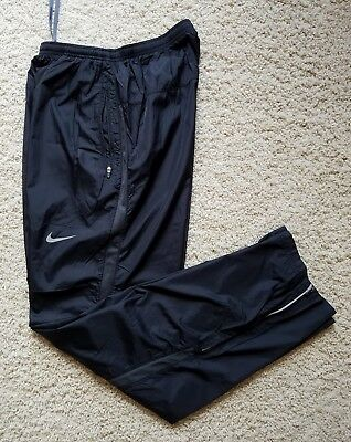 EUC Men's NIKE Athletic Training Running Basketball Pants SZ M Nylon Black