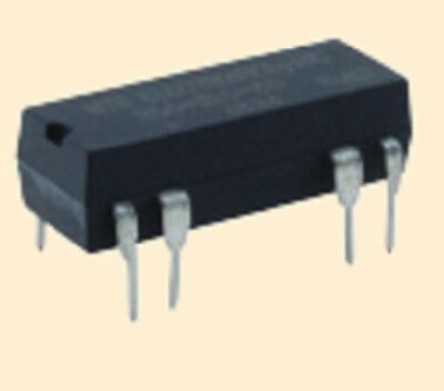 Gen Purp 12 VDC DPST - NO DIP DC Reed Relay w/ Int Clamp Diode -NTE R56-7D.5-12D