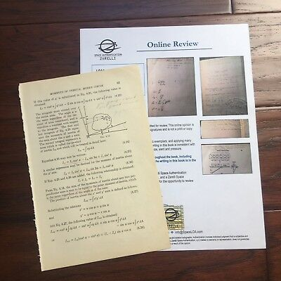 EDWARD H. WHITE II * Scarce Authentic HAND-WRITTEN Notes * APOLLO 1 * Autograph