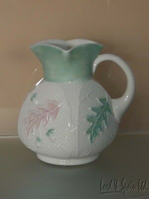 "Vintage EAPG Northwood NETTED OAK Glass 8 1/4"" Pitcher With Leaves & Acorns"