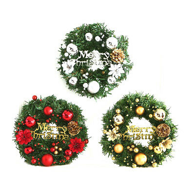 Christmas Holiday Wreath Door Window Ornament Garland Home Party Decoration New