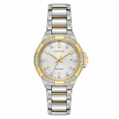 Citizen EW2464-55A Womens Silver Dial Two Tone Steel Diamond Watch