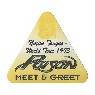 Poison authentic 1993 Native Tongue tour Satin cloth Backstage Pass original
