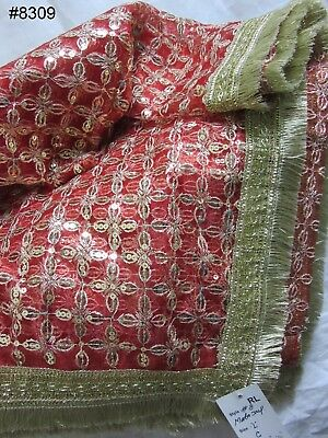 Mata Chunni 8312 Red Georgette Full Size Indian Pooja Ghar Chunni Shieno Sarees