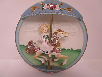 Classic Vintage The Bradford Exchange Musical Carousel Horse Collectors Item