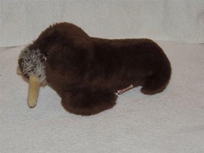 Vintage Plush Walrus Dakin 1975 Stuffed Animal Tusks 9""