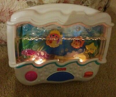 Fisher Price Ocean Wonders Aquarium Baby Crib Soother Sound & Lights ~ 73545