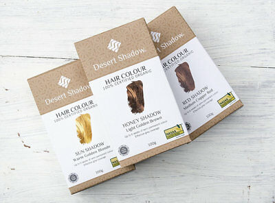Desert Shadow Certified Organic Hair Dye (100g) - Various Colours
