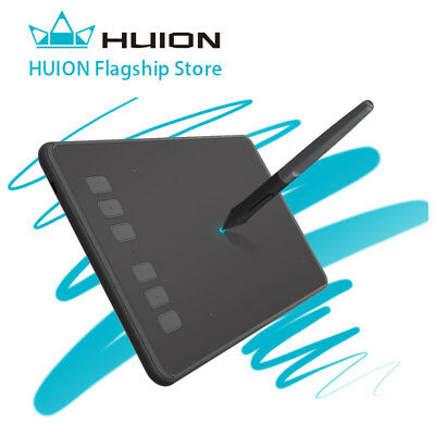 Huion H640P Graphics Tablet/Board Battery free Stylus Pen 8192 Pressure 5080LPI