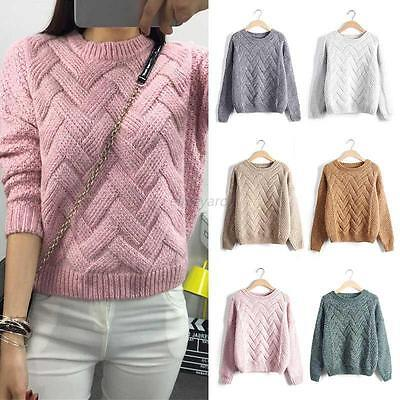Fashion Women's Long Sleeve Knitted Pullover Jumper Casual Sweater Knitwear*Tops