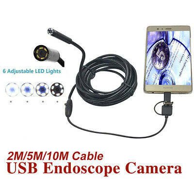 Waterproof 3 in 1 Semi Rigid Endoscope Type C / Micro USB Camera for Android PC
