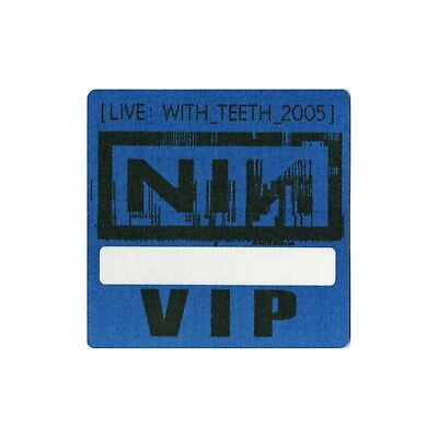 Nine Inch Nails authentic 2005 Live: With Teeth Tour Backstage Pass VIP blue