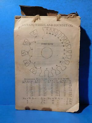 Ramapo Wheel and Foundry Co. Chilled Wheels for Locomotives 1877 SC