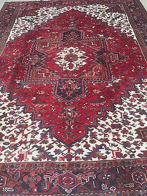 Hand Knotted Persian TABRIZ- Heriz Antique look Rug 8 x 10 ,8x11