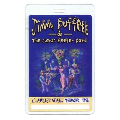Jimmy Buffett authentic 1998 concert Laminated Backstage Pass Carnival Tour