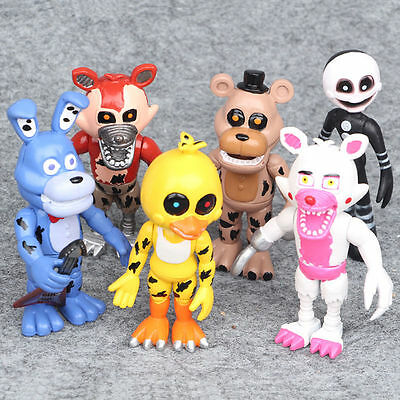 Five Nights At Freddy's FNAF Game 6 PCS Action Figures Doll Toys Gifts For Kids