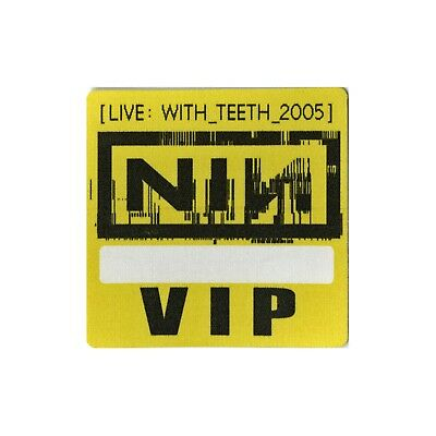 Nine Inch Nails authentic 2005 Live: With Teeth Tour Backstage Pass VIP yellow