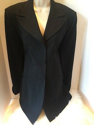 MIMI MATERNITY Black Crepe Jacket Blazer Soft Flowing Career M EUC