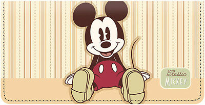 Classic Mickey Leather Checkbook Cover