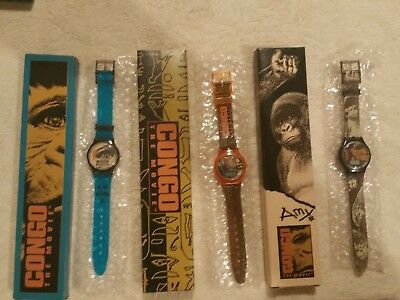 New In Boxs! SET OF 3 Paramount Congo the Movie  Digital Watchs 1995 Taco Bell
