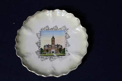 Early 1900's Souvenir Plate Court House Geneva Nebraska NE
