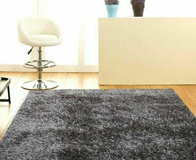 New Shag Shaggy Floor Confetti Modern Rug Carpet Designer Grey Black White Cube
