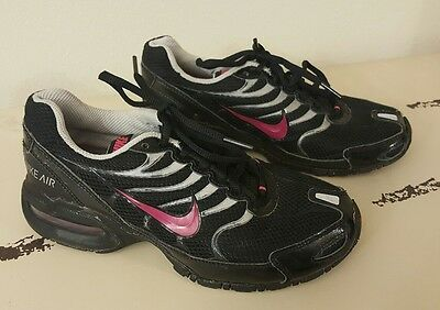 Nike Torch 4 Girls Size 4 Pink Black Running Tennis Shoes Sneakers