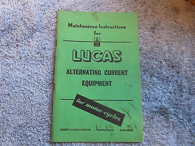 Lucas Handbook for BSA / Triumph / Norton Motorcycles